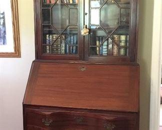 Vintage mahogany secretary - Maddox Tables, Jamestown, NY