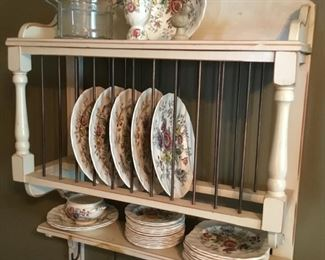 Lovely farmhouse plate rack (Sheraton bowl not included - on top shelf)