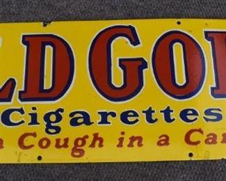 Large Old Gold Cigarettes Porcelain sign