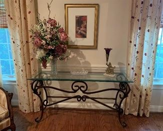 Nice Heavy Glass Sofa Table