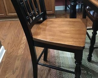 1 of 8 Bar-height chairs