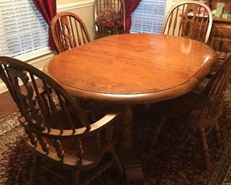 Solid maple table with leaf $400 (with chairs)