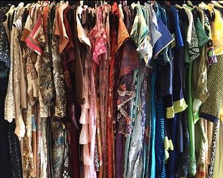 just a fraction of the vintage clothing, more pictures coming soon.