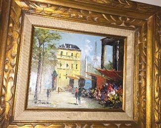 Original vintage framed art