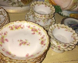 Vintage Limoges dessert set
