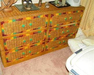 excellent wicker dresser