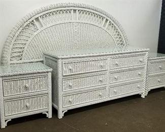 Henry Link Wicker bedroom furniture