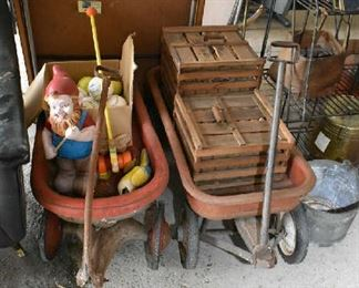 WAGONS, WOOD CRATES