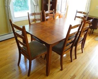 Dining room table and chairs $150
