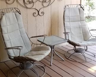 FABULOUS Mid Century Homecrest outdoor chairs
