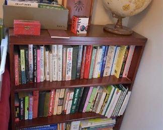 BOOKCASE, BOOKS, GLOBE
