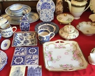 PAINTED CHINA, BLUE/WHITE DISHWARE