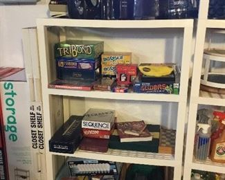 KITCHEN APPLIANCES, BOARD GAMES