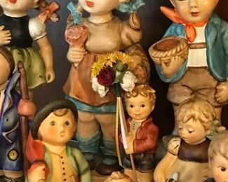 Big collection of Hummel figurines.