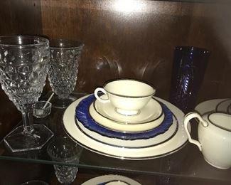 Fostoria American glassware, Lenox Montclair china, and more.
