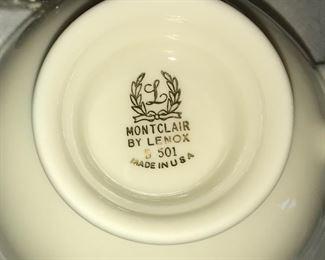 Lenox Montclair china.