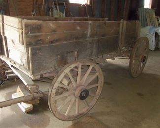 1920's HORSE DRAWN WAGON  OWNED & OPERATED BY R F STRICKLAND COMPANY AS A COTTON HAULER