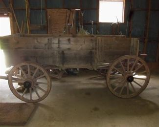1920'S HORSE DRAWN WAGON