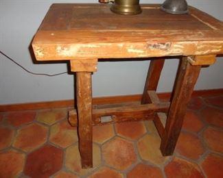 ANTIQUE CHURCH DOOR TABLE