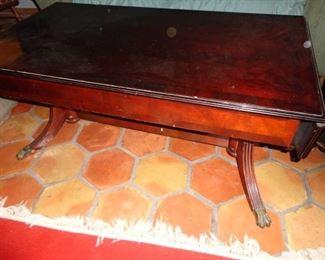 DROP LEAF CLAW FOOT TABLE