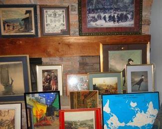 MANY FRAMED ART