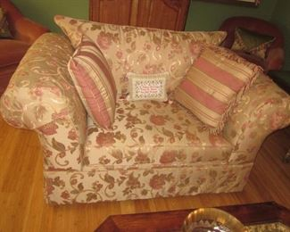 Macy's Living Room Sleeper Sofa and Two Oversized Chairs