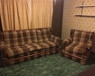 Living room set (1 couch & 2 chairs)