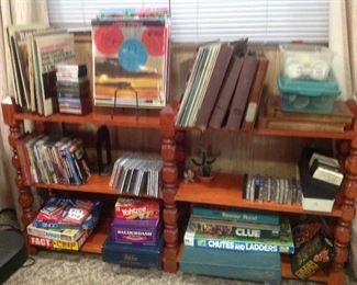 Media: records, a tracks, DVDs, cassettes, boardgames