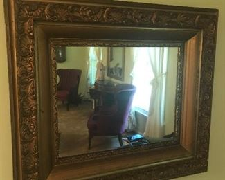 Large gold gilt wall mirror