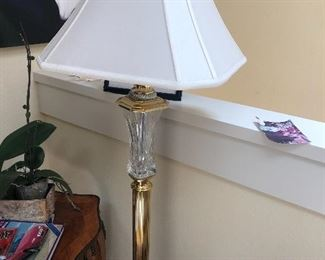 Waterford Crystal standing Lamp - french table sold.
