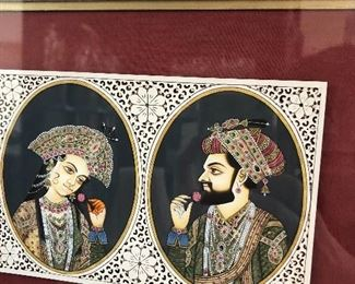Indian Mughal gorgeous painting
