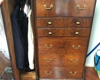 Cedar lined solid wood men's cabinet