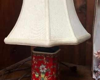 Chinese red lamp 1910-1920 maybe ching