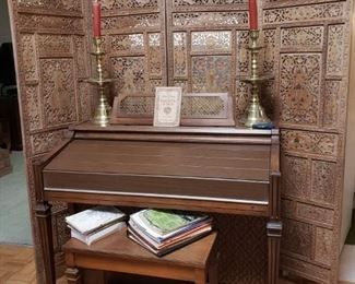 Electone organ and bench