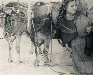 """Strangers Approaching""original pencil drawing by Nancy Ridenhour"
