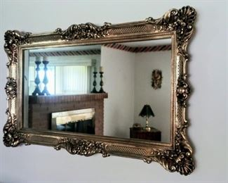 GORGEOUS huge gold framed mirror