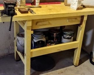 yellow workbench