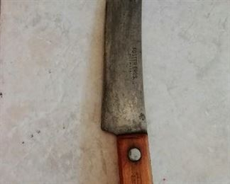 vintage Foster Brothers chef's knife