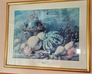 """""""Autumn Splendor"""" art print in gold frame"""