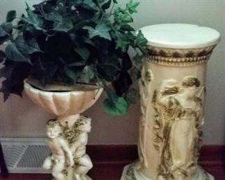 planter & pedestal...