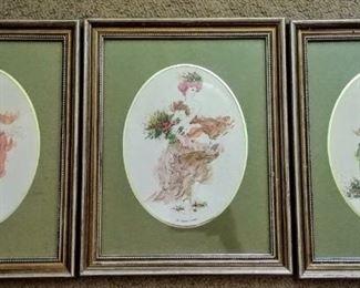 """""""4 Seasons of Fashion"""" artwork trio"""