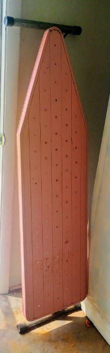 retro pink ironing board