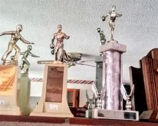 1950's bowling trophies