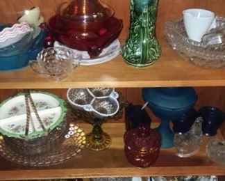 Loads of glassware and pottery