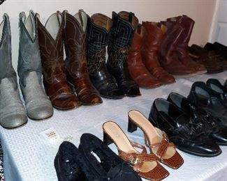 boots, shoes and clothing...