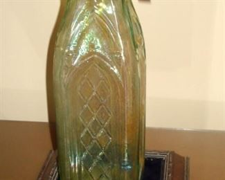 Large Antique Cathedral Bottle