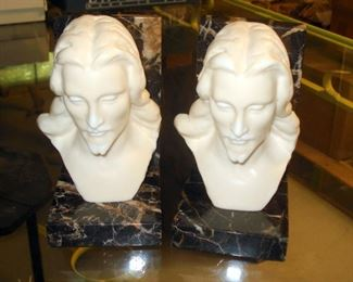 French Marble Bookends