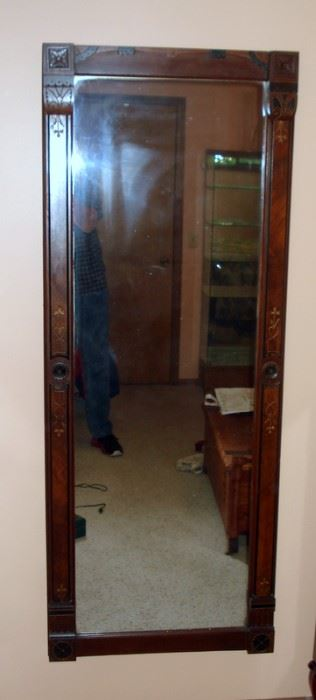 Antique  Walnut Pier Mirror