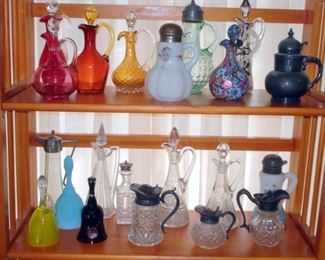 Art Glass Cruets & Syrups