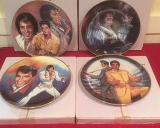 "Ernst ""Elvis Remembered"" Collectible Plates, Issues 5-8 https://ctbids.com/#!/description/share/185024"